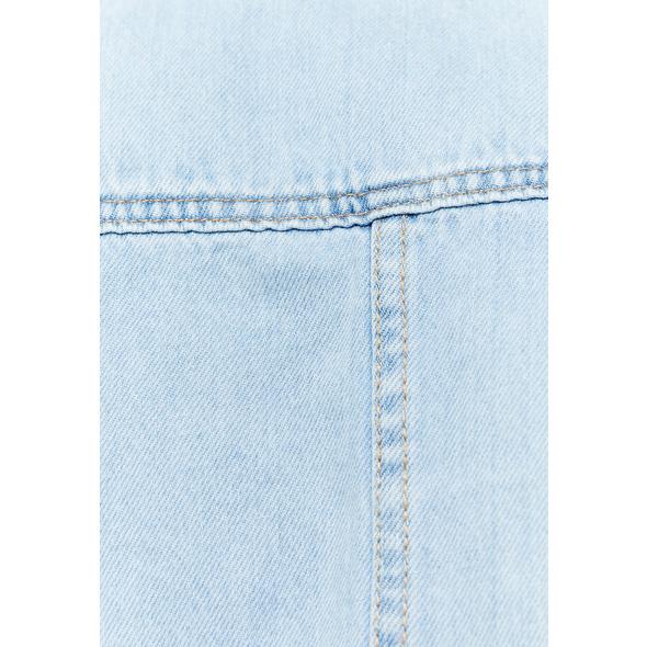 Denim Cropped Hemdjacke