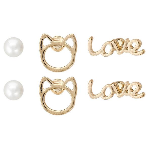 Ohrstecker - Cat Love Ball