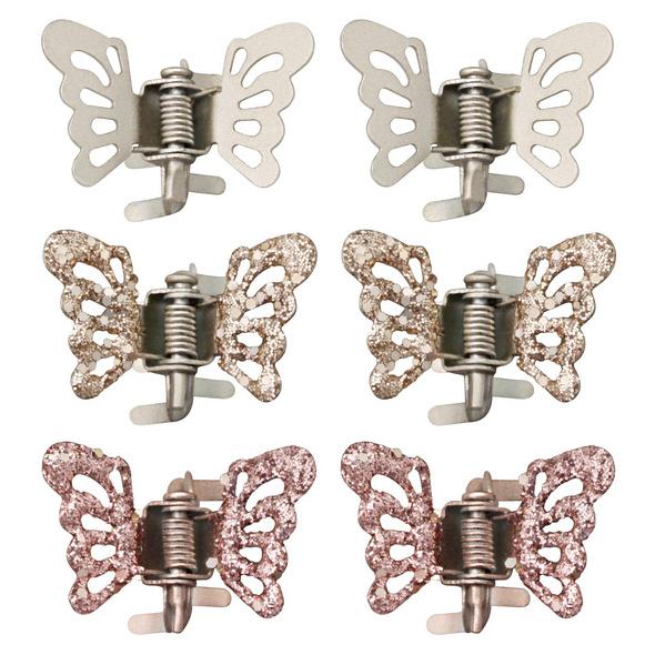 Haarklammer-Set - Butterflys