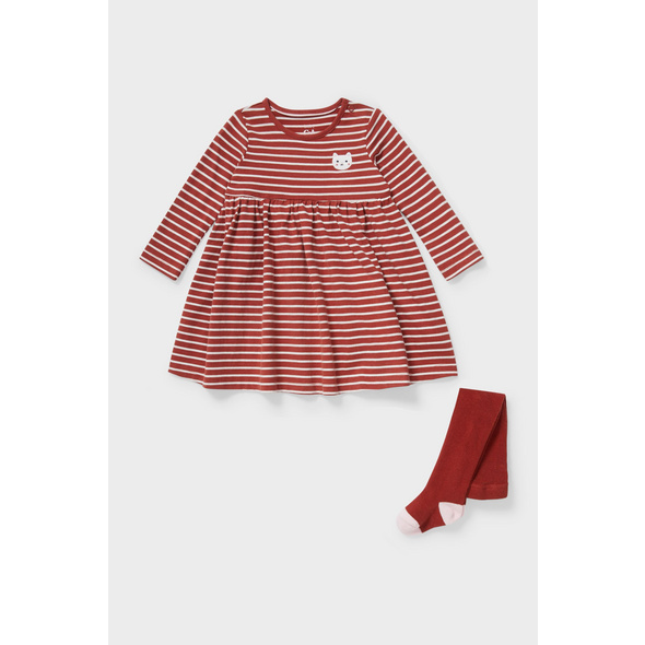 Baby-Outfit - 2 teilig - gestreift