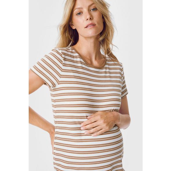 Umstands-T-Shirt - gestreift