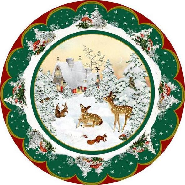 A3-Wandkalender – Nostalgischer Weihnachtsteller