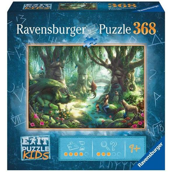 Ravensburger 12955 - Exit Kids, Der magische Wald, Rätsel-Puzzle,