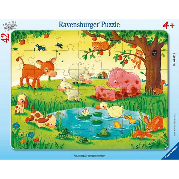 Ravensburger 05075 - Kleine Tierfreunde, Rahmenpuzzle,
