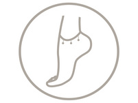 Fußkette - Tricolour