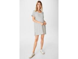 Umstands-T-Shirt-Kleid - gestreift